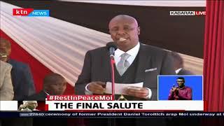 Hon. Gideon Moi pays tribute to his father Former President Daniel Moi