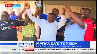 Story of Maranda's top student who lost his brother a week to the exam