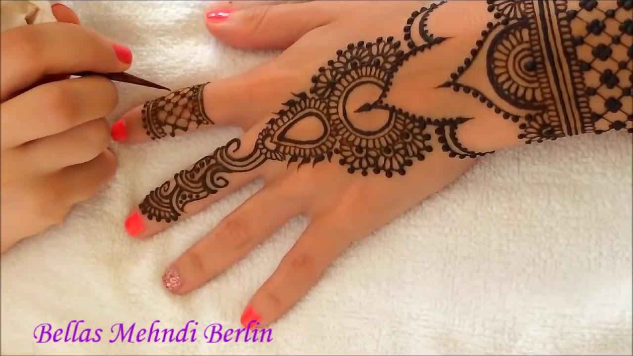 mehndi tutorial back hand step by step by bellas mehndi berlin