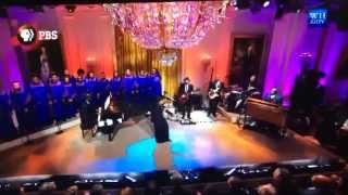 Morgan Choir sings at the White House with Aretha Franklin and Shirley Caesar
