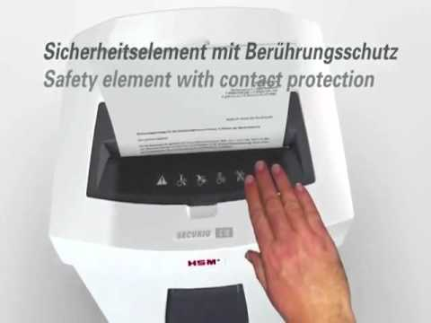 Video of the HSM SECURIO C18 CC-4 Shredder