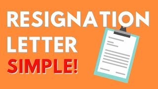 How to Write a Good Resignation Letter