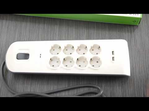 Regleta Belkin BSV804vf2M  - Calidad, protección y con dos cargadores USB.