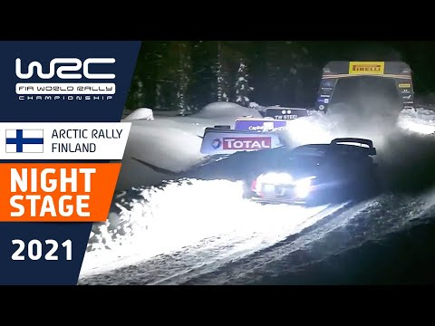 WRC 2021 第2戦のラリーフィンランド SS2のハイライト動画