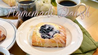 Fruit Filled Danish From Scratch | Homemade Pastry Dough