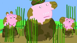 Peppa Pig Official Channel   Muddy Peppa Pig, George and Grandpa Pig