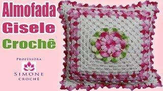 Almofada Em Crochê Flor Gisele - Professora Simone