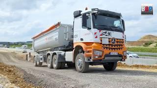 MERCEDES-BENZ AROCS 3351 Tipper Trailer Trucks / Sattelkipper, Ausbau A 8 Merklingen, 2018.