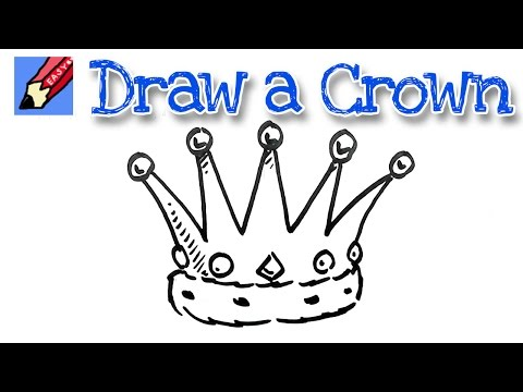 Learn to draw a crown real easy