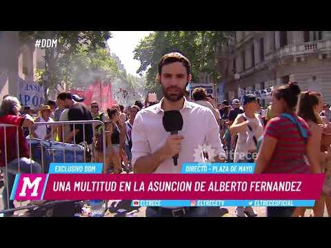 Una multitud en la asunción de Alberto Fernández