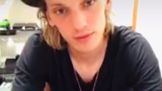 DEALING With An HEARTBREAK - Jamie Campbell Bower And Sam, Counterfeit LIVE Q&A On Instagram.