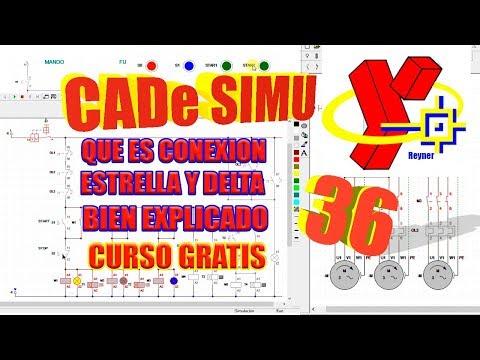 Conexion Estrella y Delta explicado por separado en #CadeSimu