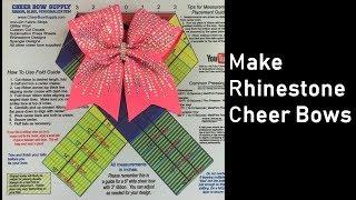 Easy Make Rhinestone Cheer Bow