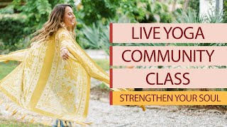 Live Yoga Class with Allie VF   Strengthen Your Soul & Tap into Your Wisdom