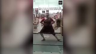 Classical dance turns military training by an old woman in South India