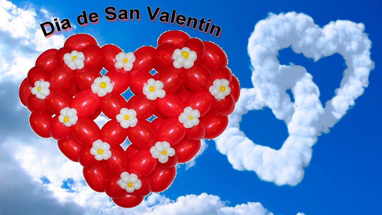 Corazon en Globos detalle para el dia de San Valentin 1/2