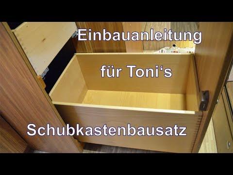 Schubkasteneinbau in Spülenschrank | TUTORIAL für Toni's Schubkasten-Bausatz |