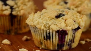 Blueberry Streusel Muffins Recipe Demonstration - Joyofbaking.com