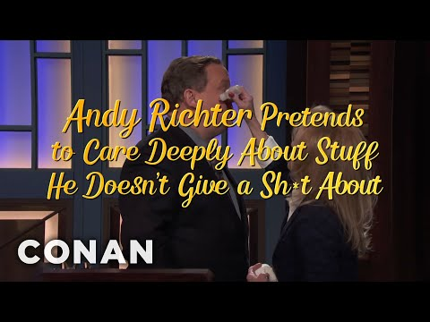 Andy Richter Pretends To Care Deeply About Stuff He Doesn't Give A Shit About  - CONAN on TBS