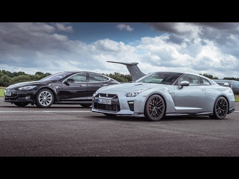 Tesla Model S P90D vs Nissan GT-R | Drag Races | Top Gear