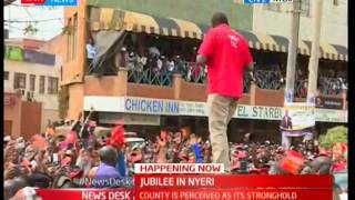 President Uhuru promises more  infrastructure to Nyeri residents