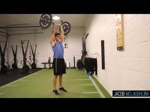 Standing EZ Bar Tricep Extension