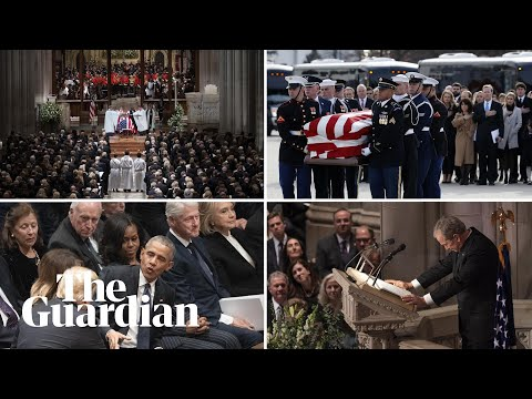 Download The key moments from George HW Bush's funeral HD Mp4 3GP Video and MP3