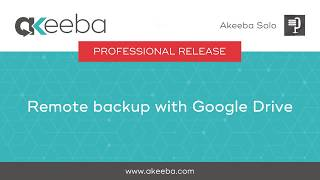 Watch a video on Remote Backup with Google Drive [02:44]