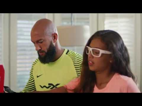 Renowned Soccer Goalie Tim Howard and Daughter Ali for Youth Force™ eyewear by Wiley X