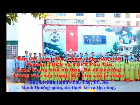 Xây dựng mái che sân trường T04.2017 - Trường THCS và THPT Phú Tân, An Giang