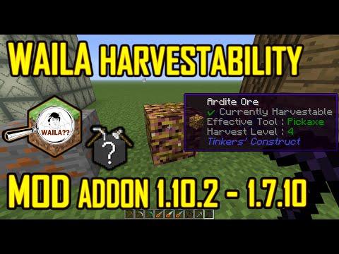 Waila Harvestability  Mod Addon Minecraft |Para 1.10.2 y Otras Versiones En Español | Mod Review