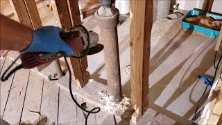 how to cut cast iron pipe DIY do it yourself