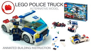 LEGO CITY POLICE 60138 Racing Police Truck - Alternative Build Instructions MOC Car Cамоделка