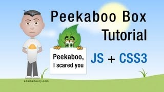 JavaScript Peekaboo Box Tutorial Scroll Bottom CSS Transition Animation