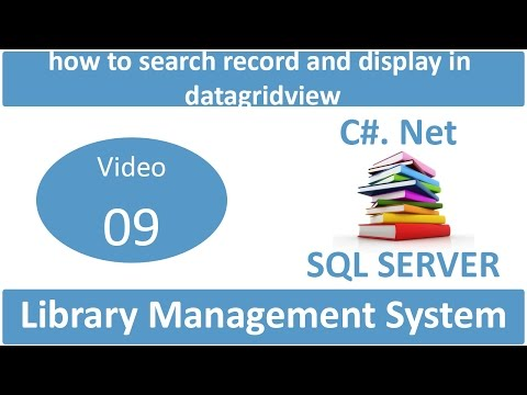 how to search record and display in datagridview in library management system