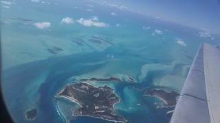Flying into Exuma Bahamas