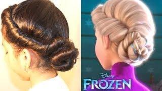 Peinado de Elsa en FROZEN| Frozen Elsa's Coronation Hairstyle