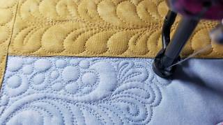 Pebbles, Swirls, Feathers. Applique, Hand Guided , Longarm Quilting, Long Arm Free Motion Quilting