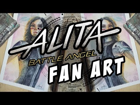 Watercolor Fan Art of Alita: The Battle Angel | Philippines