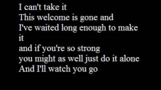 Can't Take it - The All American Rejects (with lyrics)