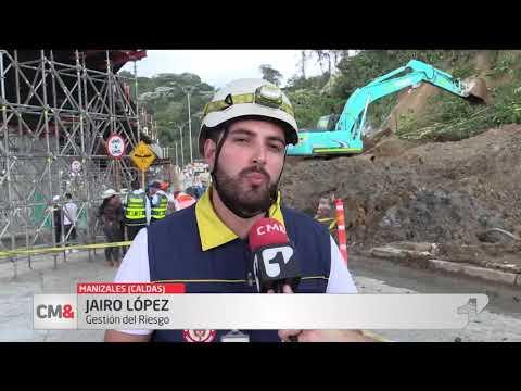 Video | Camara de seguridad capto derrumbe en plena avenida de Manizales
