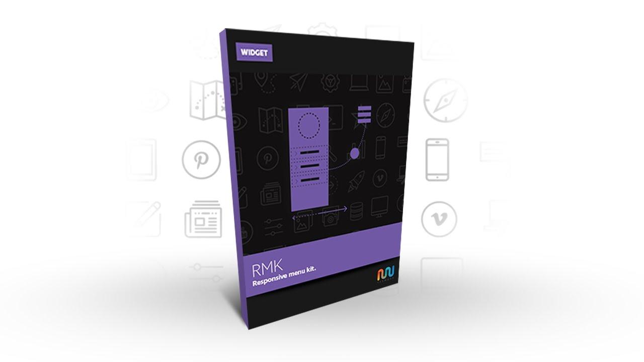 Adobe Muse Widget or Adobe Muse Template | Responsive Menu Kit