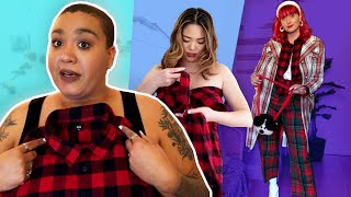 10 Women Style The Same Flannel Shirt