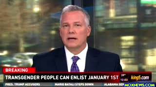 BREAKING! Pentagon Will Allow Transgender People Join Military Beginning January 1st 2018!