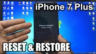 How To Reset & Restore your Apple iPhone 7 Plus - Factory Reset