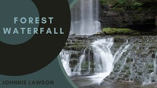 Nature Sounds of a Forest Waterfall for Calm Relaxation & Meditation with the Sound of Birds Singing