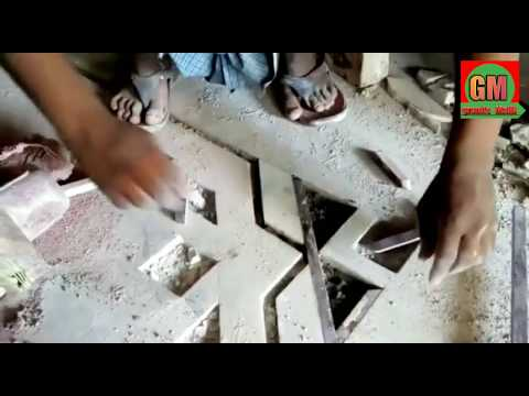 Marble flooring border