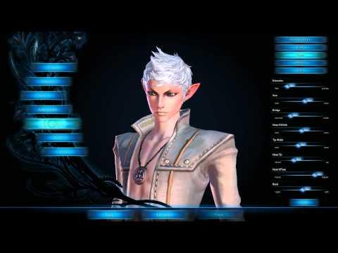 TERA Создание персонажа (High Elf)