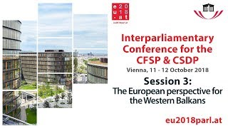 Interparliamentary Conference for the CFSP & CSDP – Session 3 (12 October 2018)