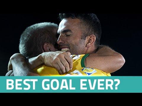 Jogador brasileiro dá nove toques sem deixar a bola cair e faz... um golaço!